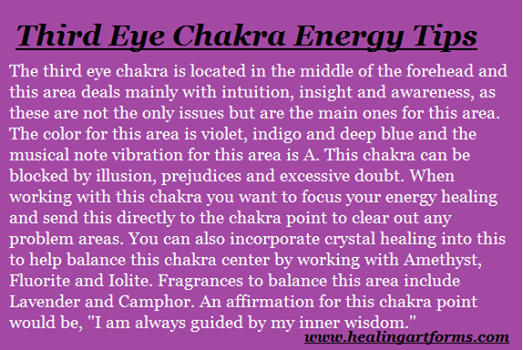3rd eye energy tips