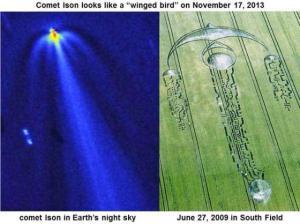 Comet Ison Crop Circle